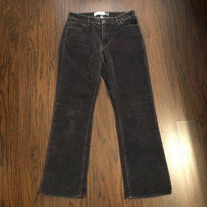 Gap pants corduroy gray bootcut stretch size 8